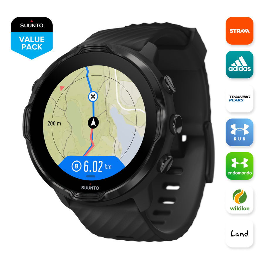 Suunto 7 All Black route navigation and partners 0bd6f